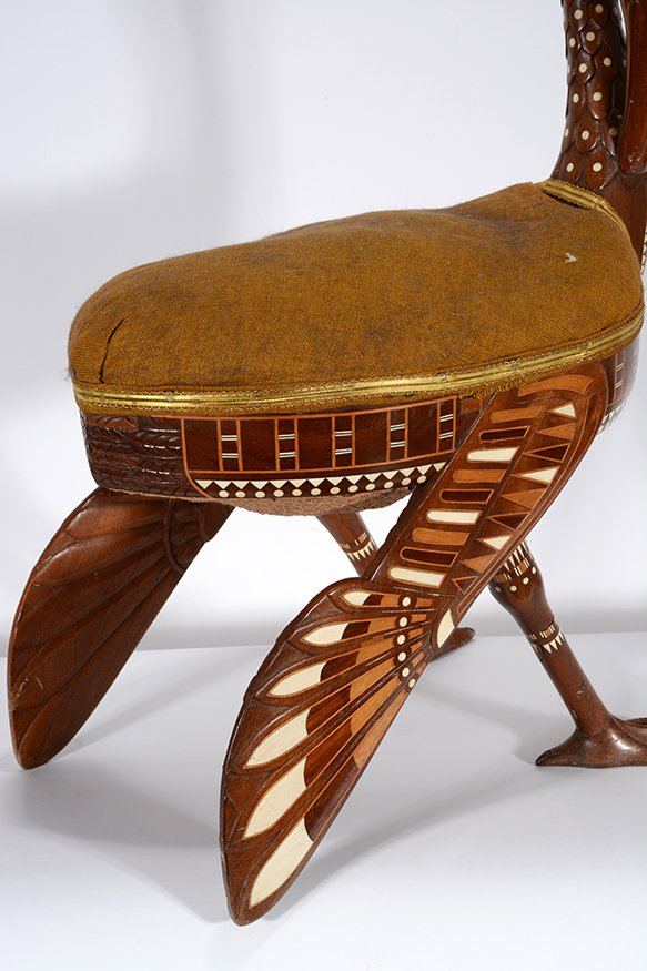 Eygptian Revival Crane Chair. - 10