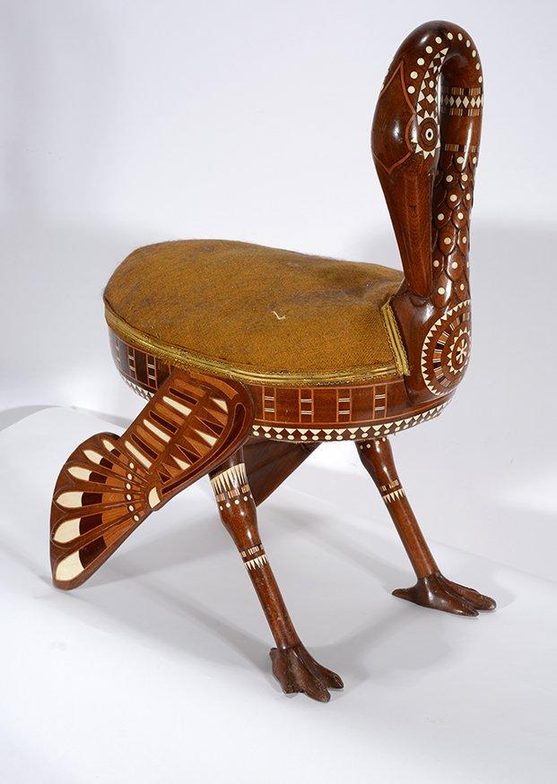 Eygptian Revival Crane Chair. - 11