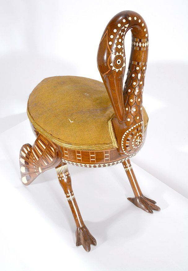 Eygptian Revival Crane Chair.