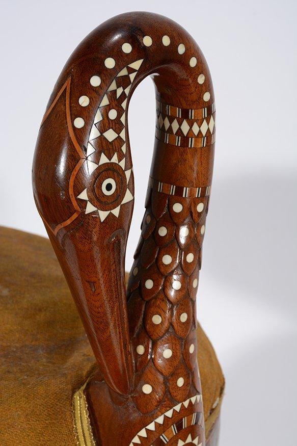 Eygptian Revival Crane Chair. - 5