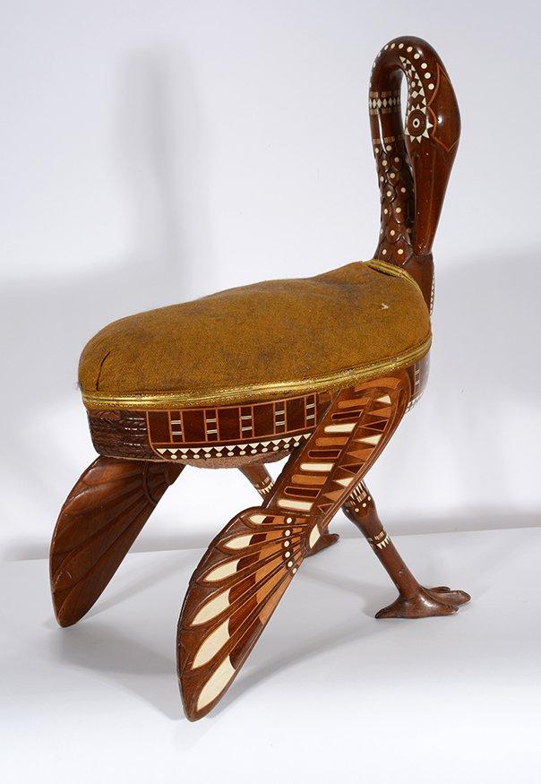 Eygptian Revival Crane Chair. - 6