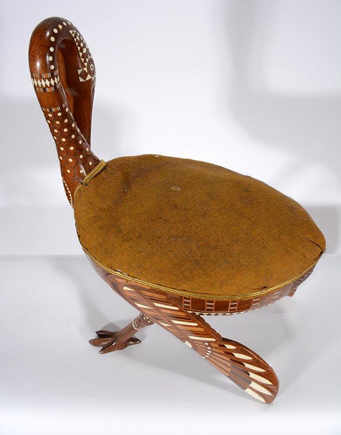 Eygptian Revival Crane Chair. - 8