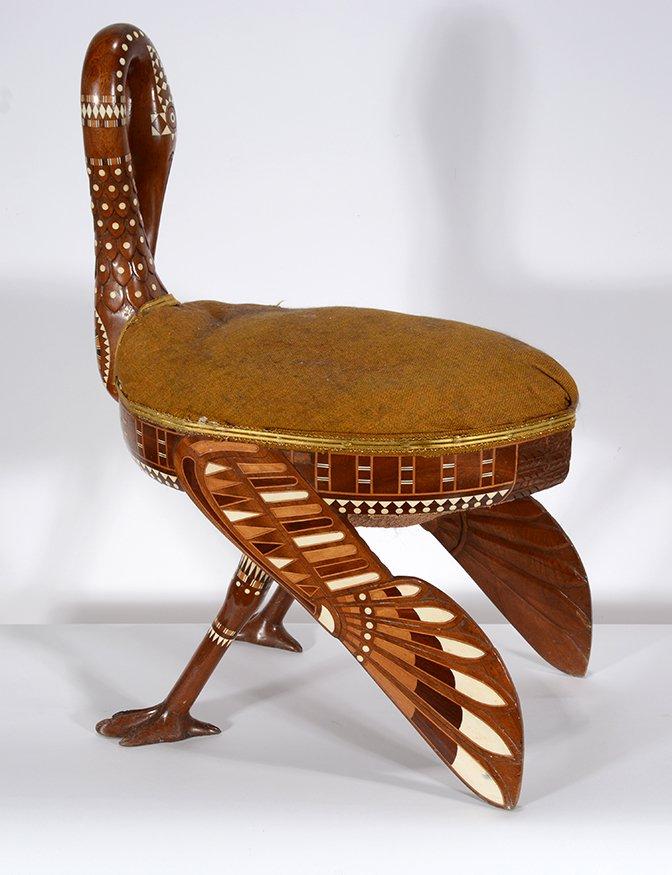 Eygptian Revival Crane Chair. - 9