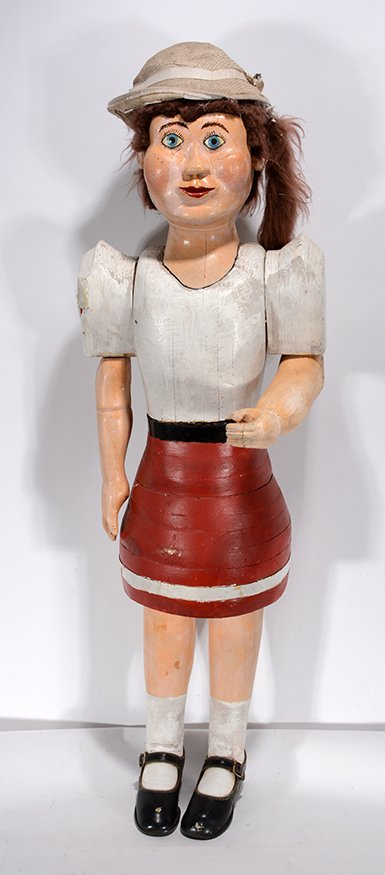 School Gal Carving by Anonymous Maker. - 2