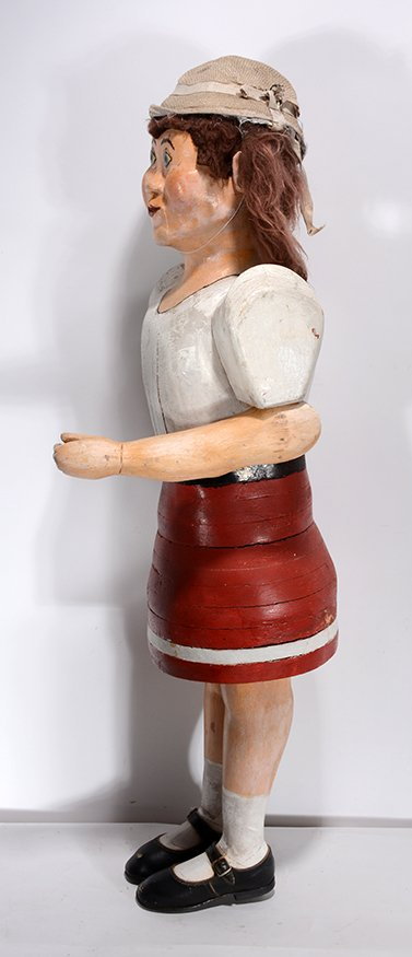 School Gal Carving by Anonymous Maker. - 4
