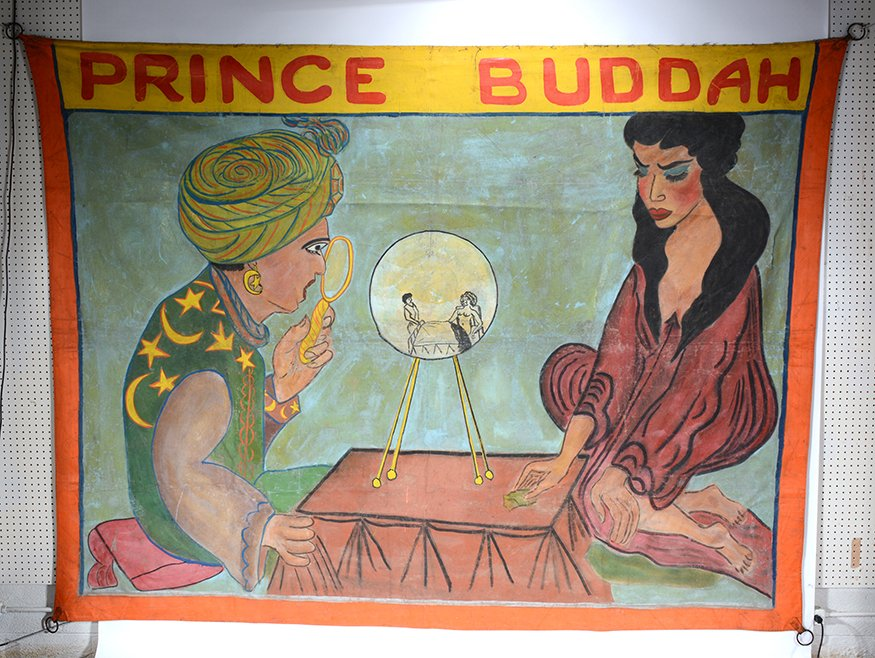 Circus Freakshow Banner. Prince Buddah.