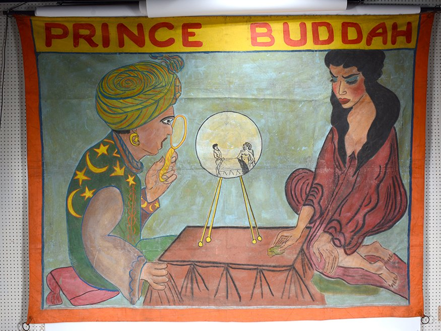 Circus Freakshow Banner. Prince Buddah. - 2