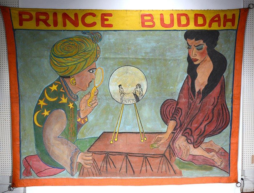 Circus Freakshow Banner. Prince Buddah. - 3