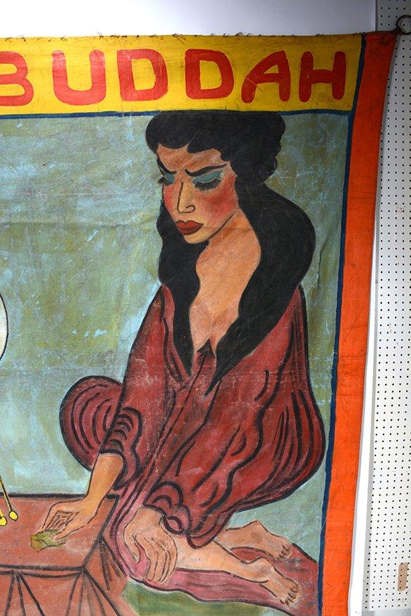 Circus Freakshow Banner. Prince Buddah. - 5