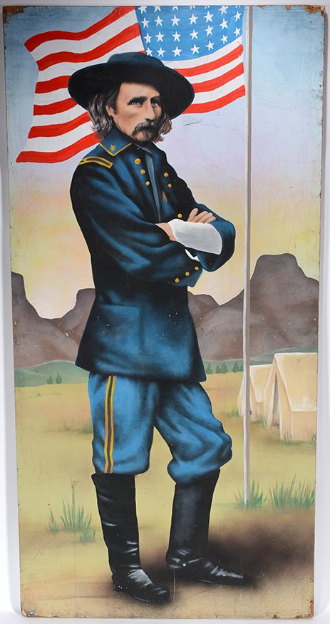 Old Western Carnival Side Show Sign. General Custer.