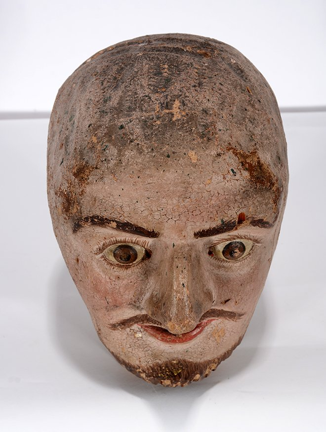 Anonymous Early Carnival Man's Bust - 3