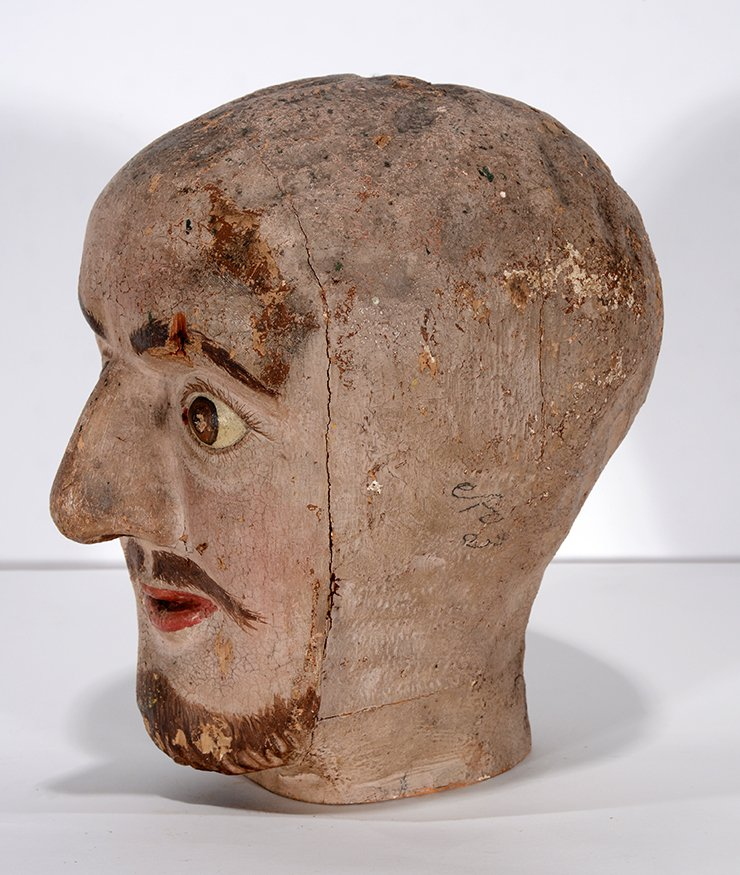 Anonymous Early Carnival Man's Bust - 6