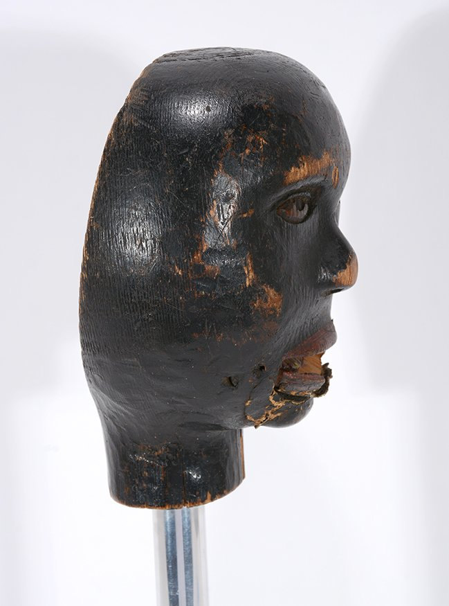 Anonymous African-American Marionette Head. - 2