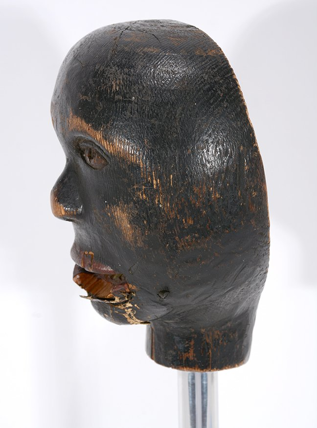 Anonymous African-American Marionette Head. - 4