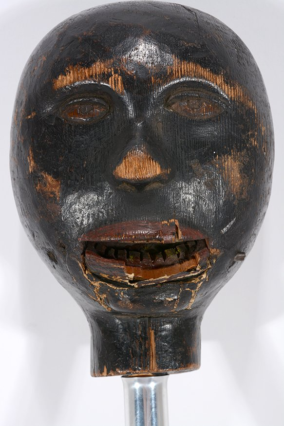 Anonymous African-American Marionette Head. - 5