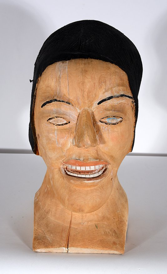 S.L. Jones. Woman's Bust In Natural Wood - 2