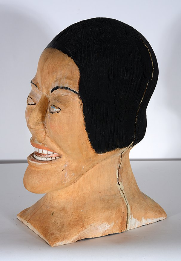 S.L. Jones. Woman's Bust In Natural Wood - 4