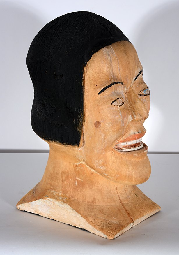 S.L. Jones. Woman's Bust In Natural Wood - 6
