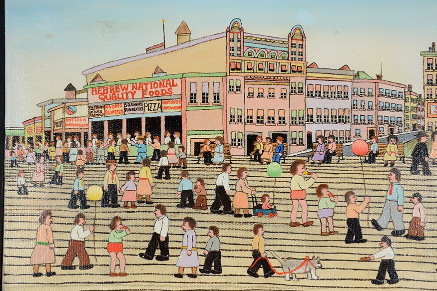 Vestie Davis. Yard Long View of Coney Island. - 3