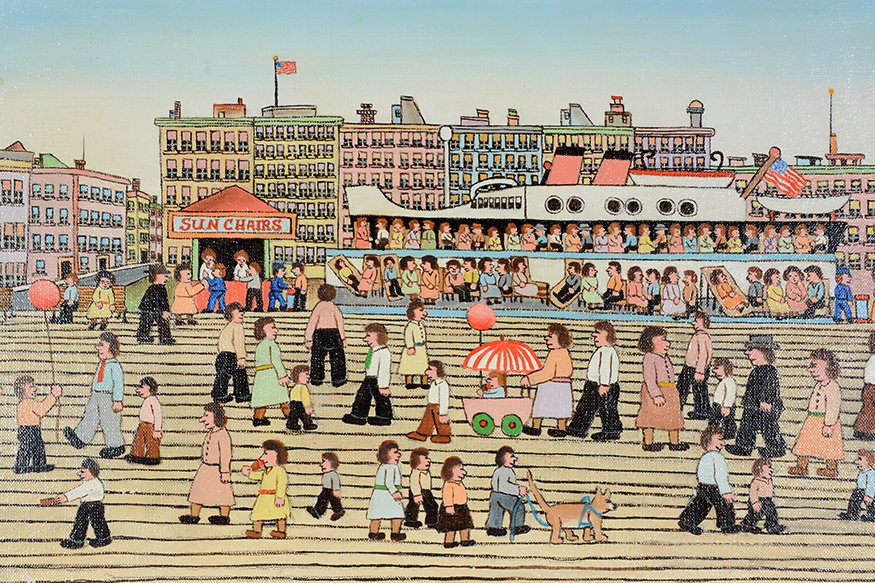 Vestie Davis. Yard Long View of Coney Island. - 4
