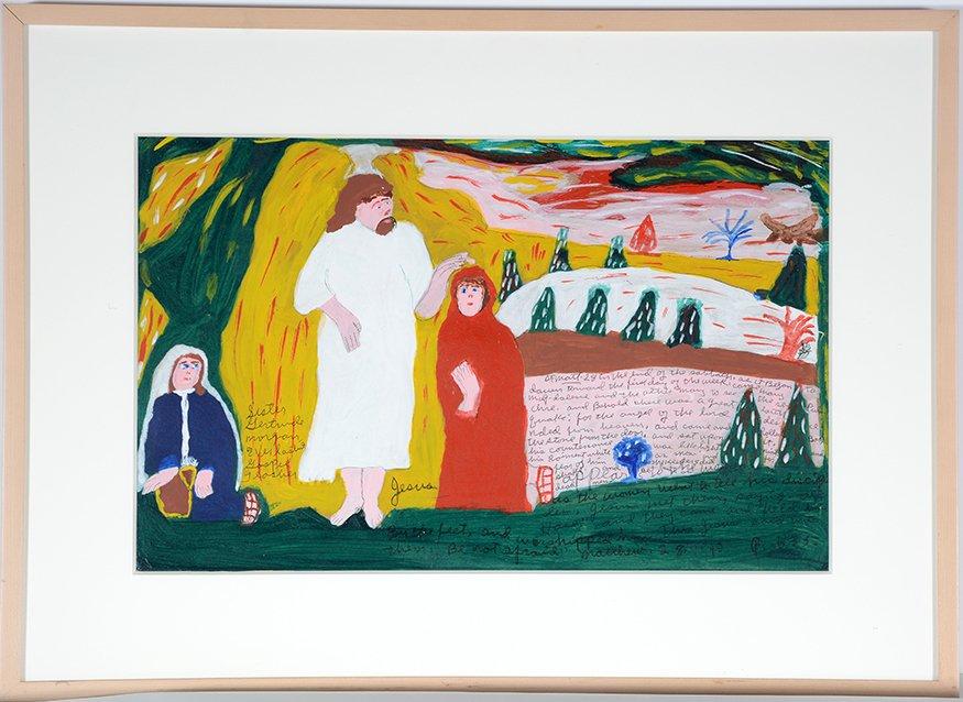 Sister Gertrude Morgan. Mary & Martha Encounter The