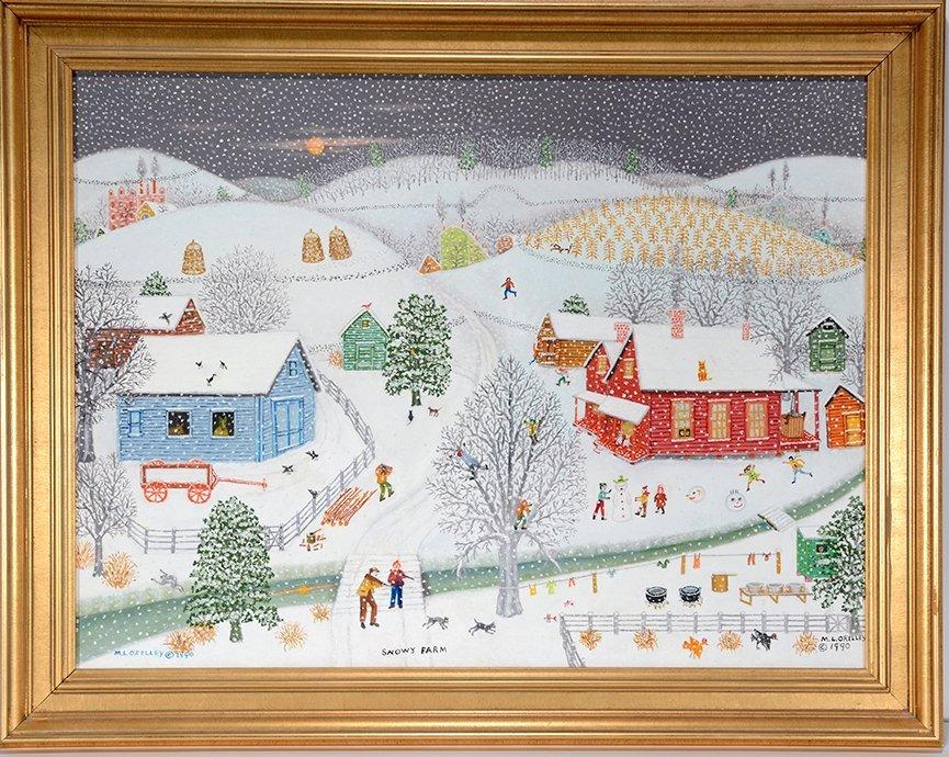 Mattie Lou O'Kelley. Snowy Farm.
