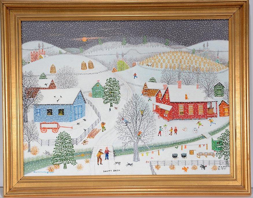 Mattie Lou O'Kelley. Snowy Farm. - 2