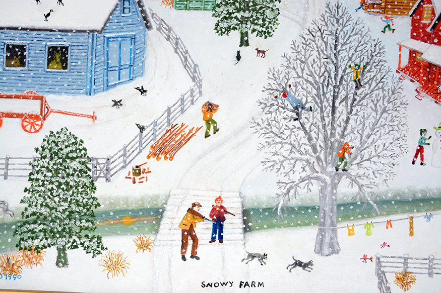 Mattie Lou O'Kelley. Snowy Farm. - 4
