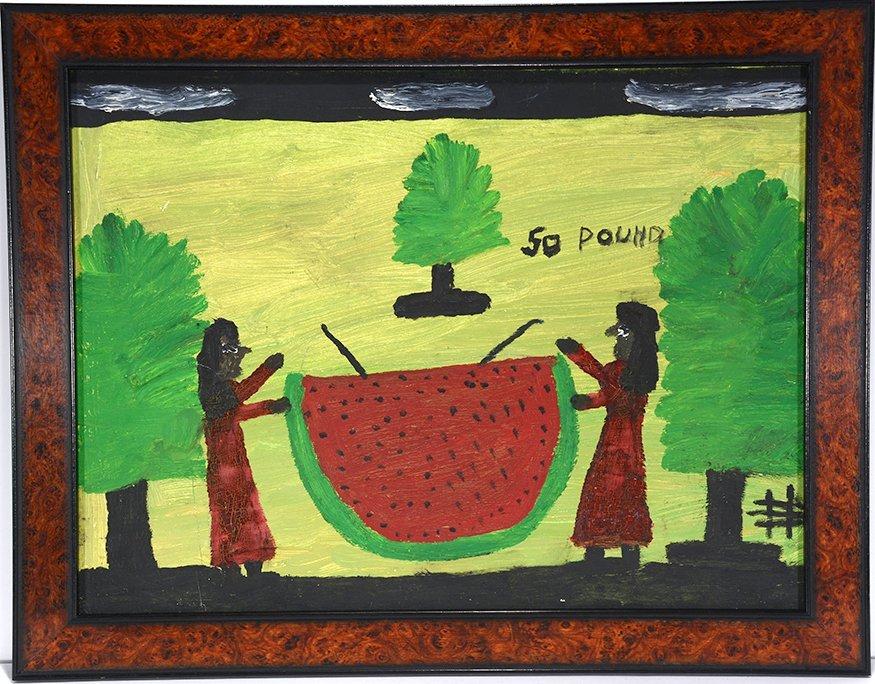 Clementine Hunter. 50 Pound Watermelon.
