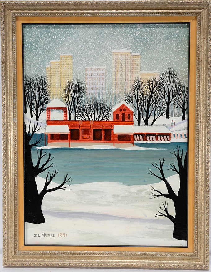 Janet Munro. Boat House At Central Park.