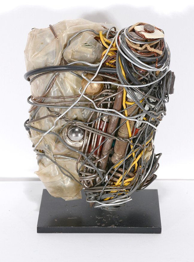 Philadelphia Wireman. Mixed Media Sculpture.