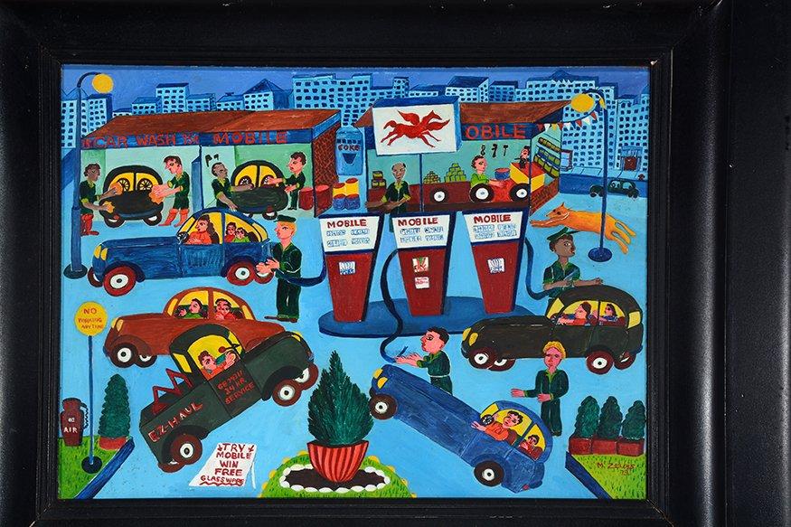 Malcah Zeldis. Mobile Gas Station. - 3