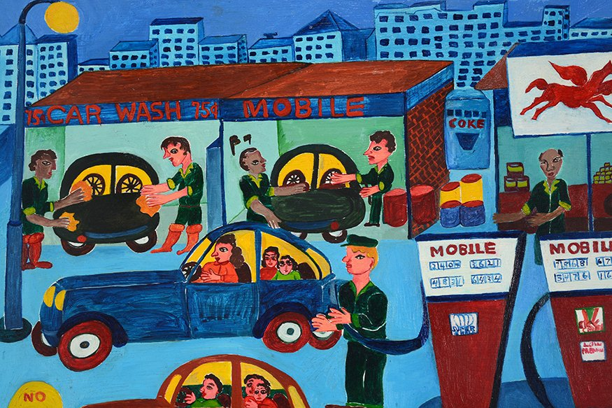 Malcah Zeldis. Mobile Gas Station. - 5