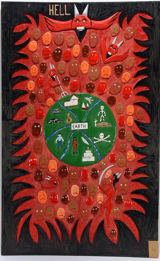 Leroy Almon. Hel Wood-Relief Plaque.