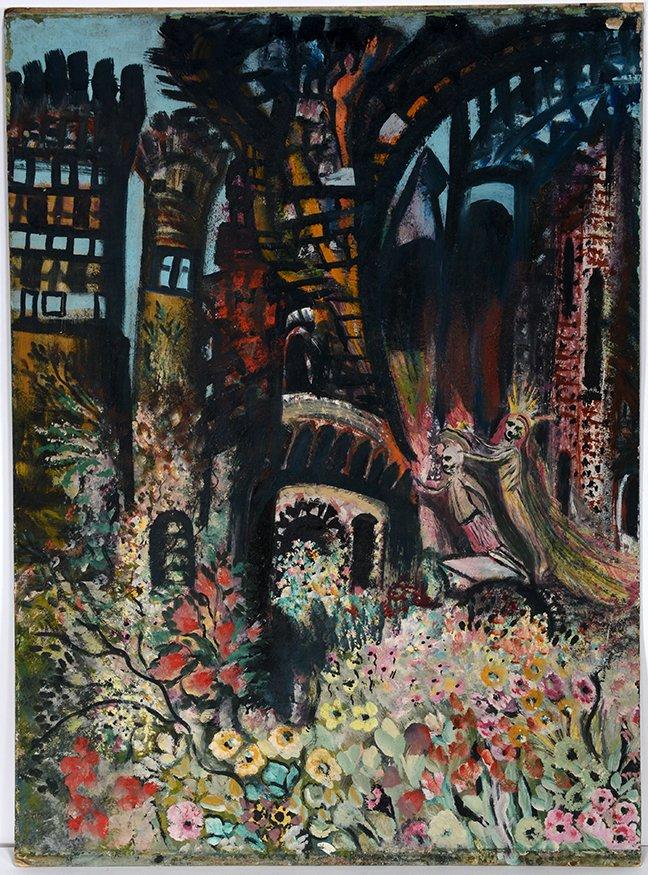 Ursula Barnes. Surreal Fantasy Day of The Dead Wedding