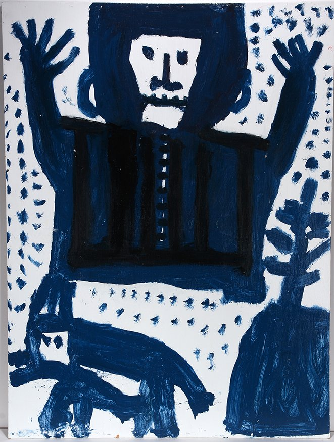 Mary T. Smith. Blue Figure With Dog.
