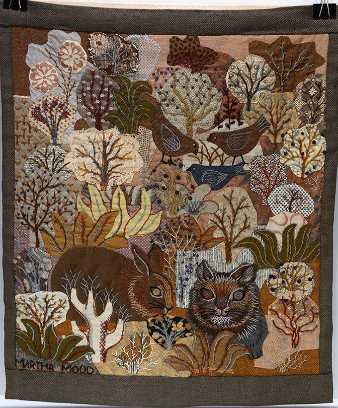 Martha Wood. Rabbit, Cat and Bird In Dessert Thread