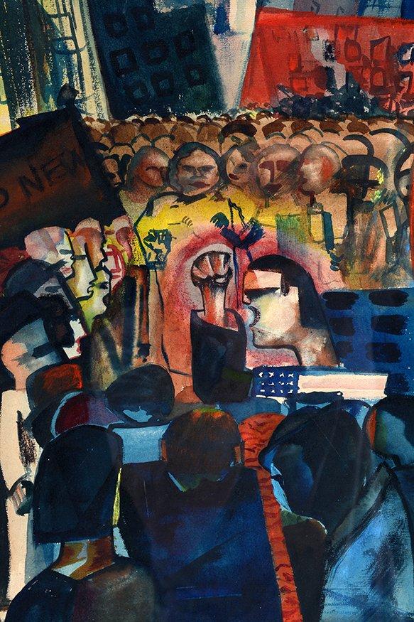Simon Ross. New York City Protest. - 3