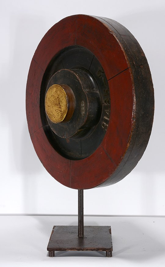Industrial Art. 31465-2 Wheel On Stand. - 2