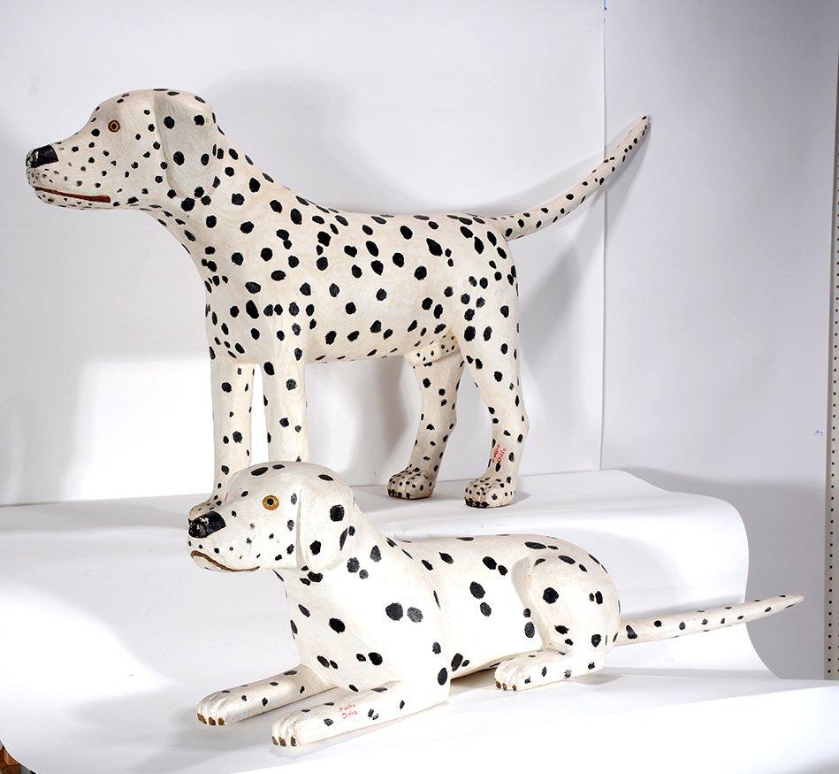 Pucho Odio. Pair of Dalmatians.
