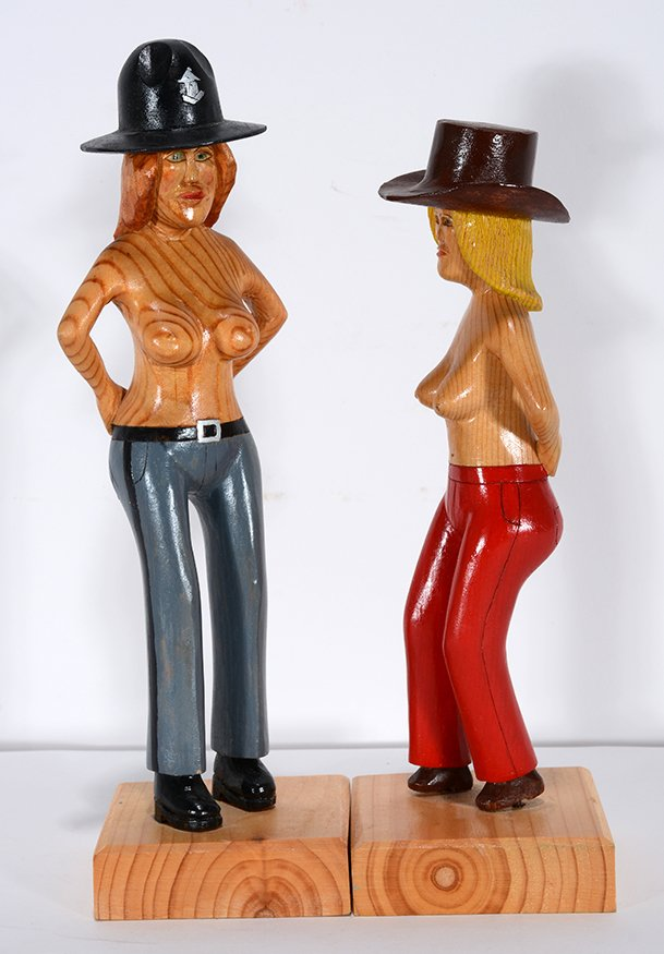 Howard Ivester. Topless Sheriff and Cowgirl. - 2