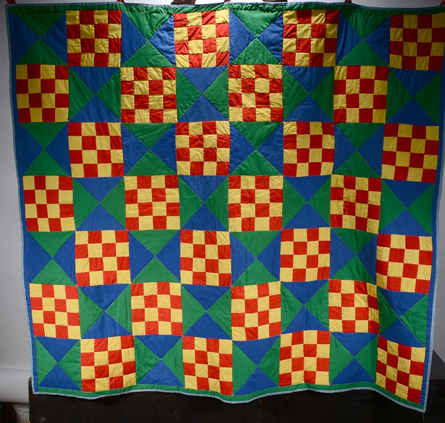 Lula Bell Brown. Gees Bend Checkerboard Quilt.