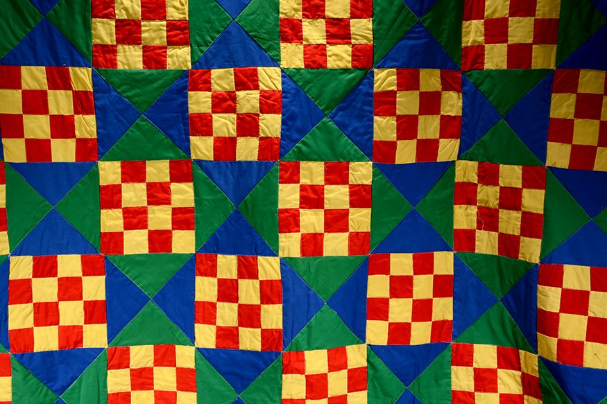 Lula Bell Brown. Gees Bend Checkerboard Quilt. - 2