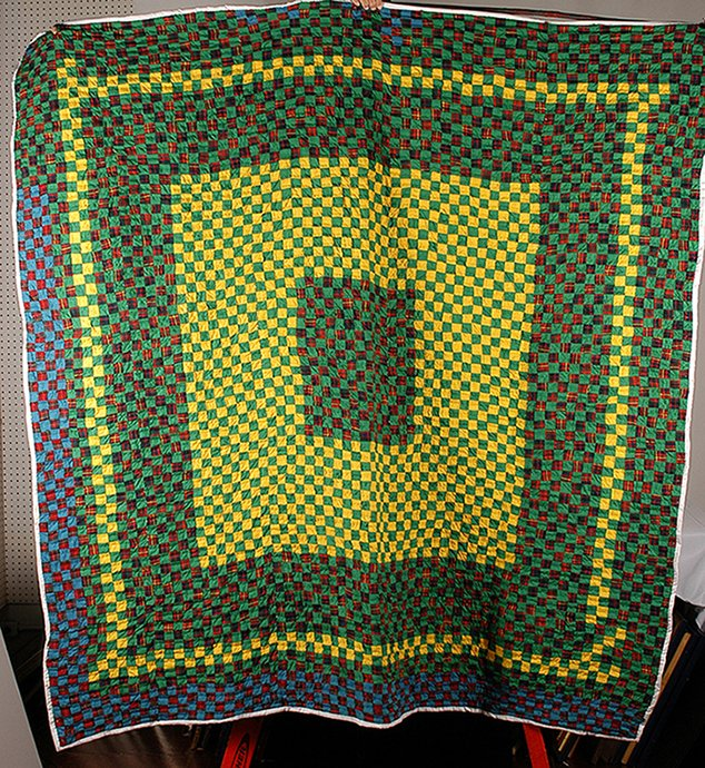 Unknown Southern Quilter. Postage Stamp Framed Center