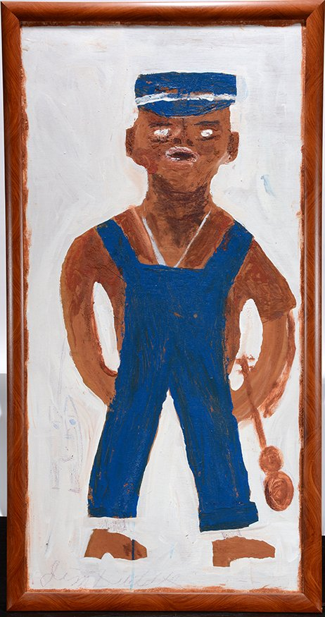 Jimmy Lee Sudduth. Self-Portrait In Overalls.