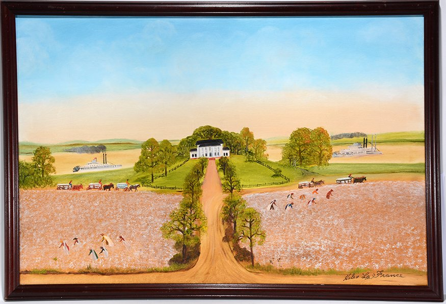 Helen LaFrance. The Plantation On The Mississippi.