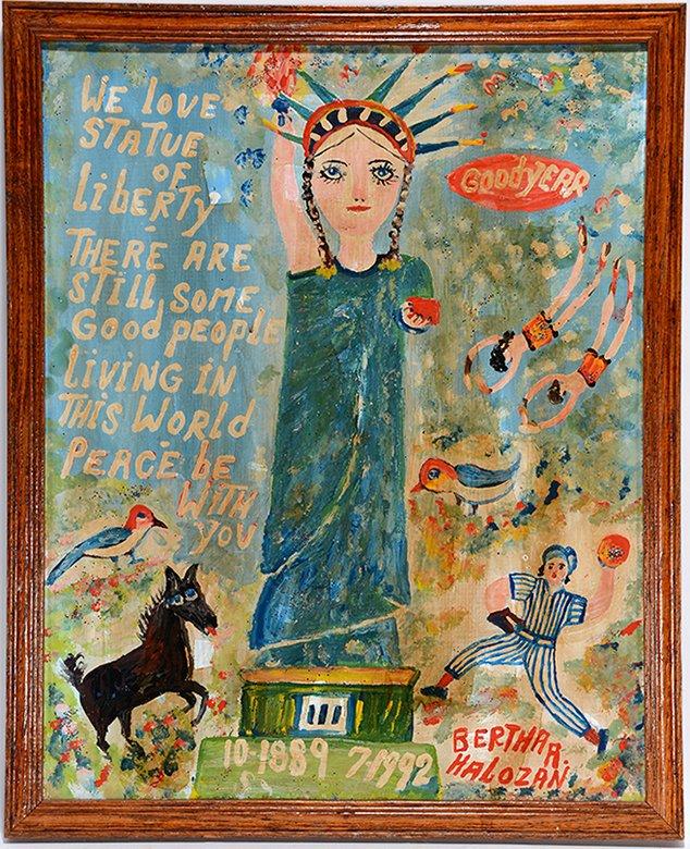 Bertha Halozan. We Love Statue Of Liberty.