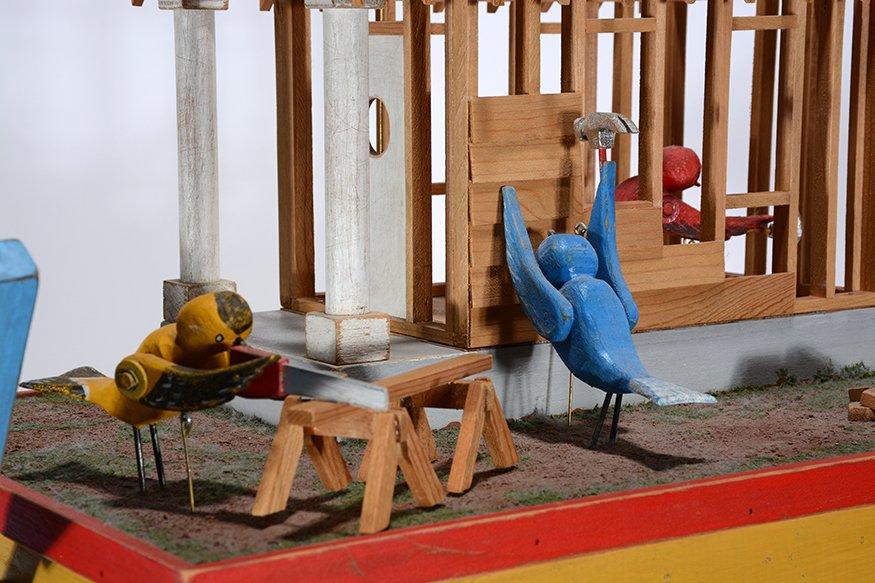 Tom Haney. Bird House Under Construction Whirligig. - 5