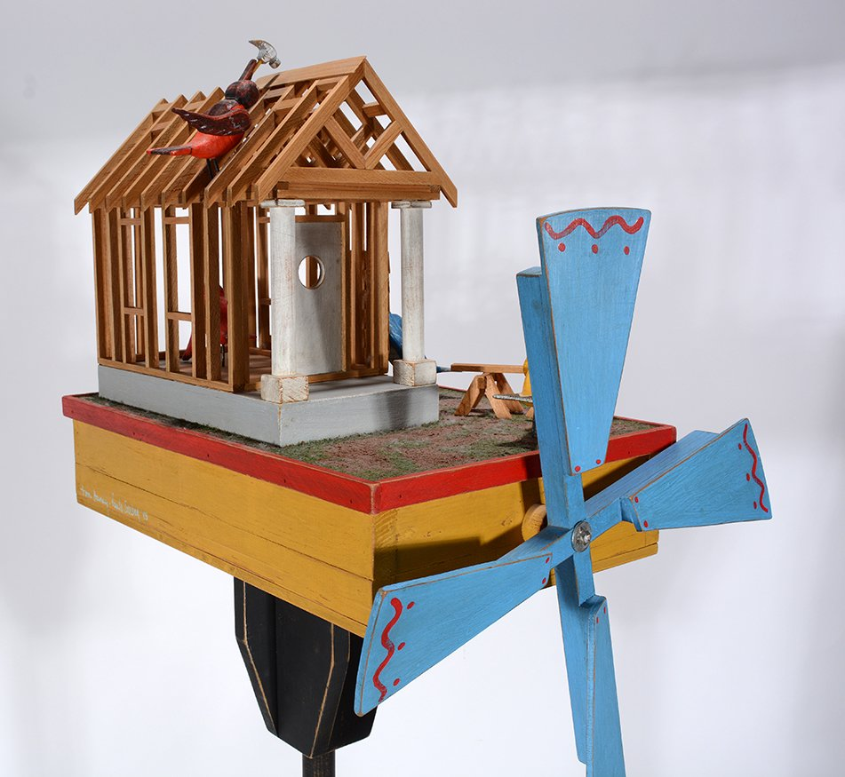 Tom Haney. Bird House Under Construction Whirligig. - 7