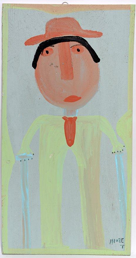 Mose Tolliver. Self-Portrait In Green.